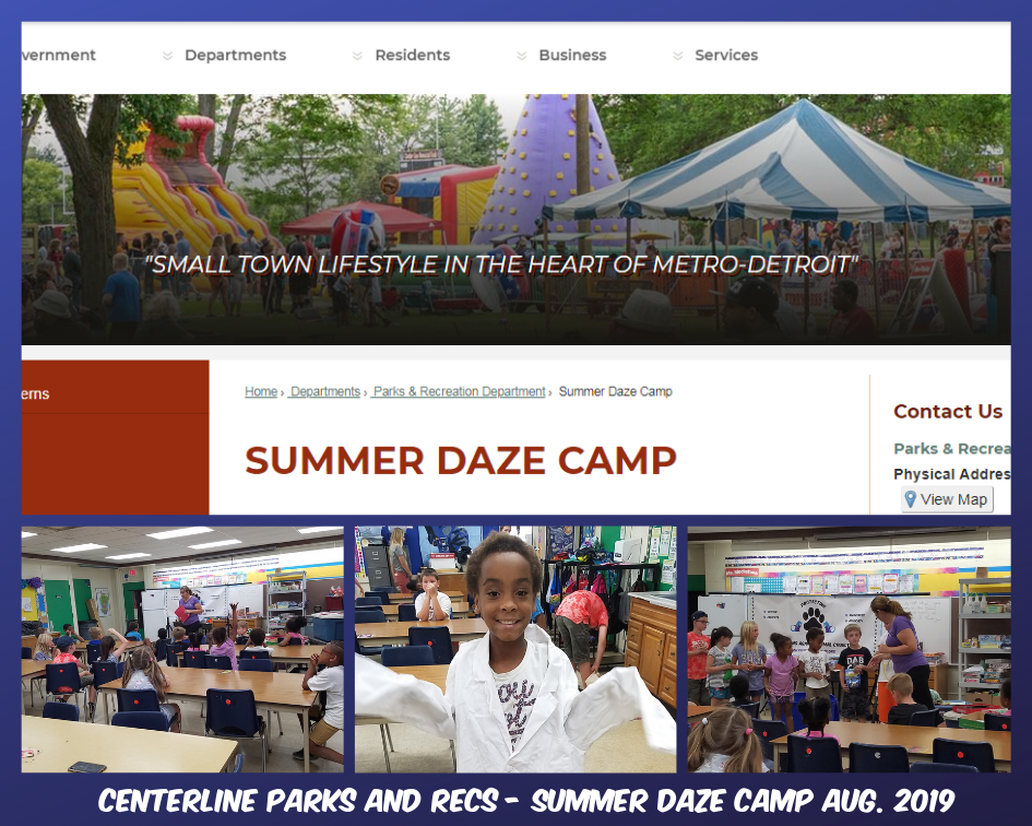 Centerline Park and Recs Summer Daze Camp Aug. 2019.