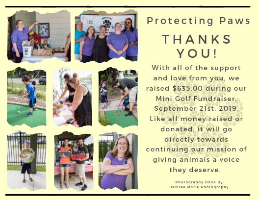 Mini Golf Fundraiser 9-21-19
